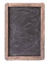 Rustic slate menu blackboard isolated Royalty Free Stock Photo
