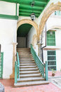 Rustic stairs in Old havana building interior Royalty Free Stock Images
