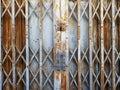 Rustic steel folding sliding door