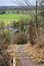 Rustic steps leading to the RiverThames in England Royalty Free Stock Photo