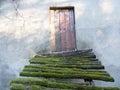 Rustic steps to old doorway Royalty Free Stock Photo
