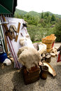 Rustic stuff some at weaning lambs festival in buzau romania Royalty Free Stock Photos