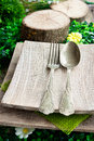 Rustic table setting Royalty Free Stock Photos