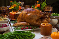 Rustic Thankgiving Dinner Royalty Free Stock Photo