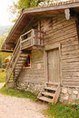 Rustic Timber house.St Bartholoma.Konigssee.Germany Royalty Free Stock Photo