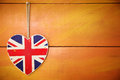 Rustic Union Jack heart decoration Royalty Free Stock Photography