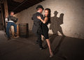 Rustic Urban Tango Dancers Stock Photography