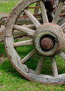 Rustic wagon wheel Royalty Free Stock Photo