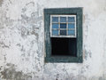 Rustic wall and old window Stock Image