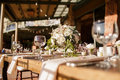 Rustic Wedding reception Royalty Free Stock Photo