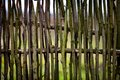 Rustic wicker fence and like Stock Image