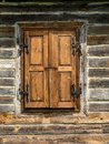 Rustic window shutters old wooden Royalty Free Stock Image