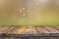 Rustic Wood Table In Front Of ...