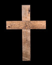 Rustic Wooden Cross Royalty Free Stock Photo