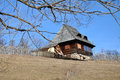 Rustic wooden house traditional in transylvania romania Stock Image