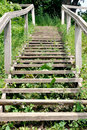 Rustic wooden ladder Stock Images