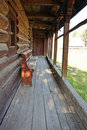 Rustic wooden porch Royalty Free Stock Photo