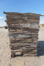 Rustic wooden structure in a desert town Royalty Free Stock Photo