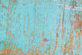 Rustic wooden texture old wood background with blue peeling paint Stock Image