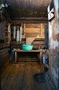 Rustieke bath-house Royalty-vrije Stock Afbeeldingen