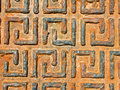 A Rusting Greek Drain Cover Stock Images