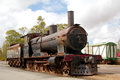 Rusting steam train the final resting place of an old workhorse in australia Royalty Free Stock Images