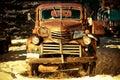 Rusty Aged Pickup Truck Royalty Free Stock Photo