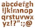 Rust English alphabet set isolated