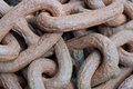Rusty anchor chain old ship s Royalty Free Stock Images