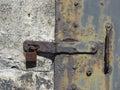 Rusty Antique Metal Door Lock Detail Texture Royalty Free Stock Photo