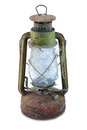 Rusty Antique oil lamp Royalty Free Stock Photo