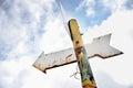Rusty arrow signpost Royalty Free Stock Photo