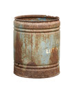 Rusty barrel isolated on white background Stock Images
