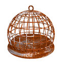 Rust birdcage rustic round prison Royalty Free Stock Photo
