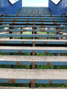 Rusty blue stairs Royalty Free Stock Image