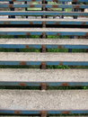 Rusty blue stairs Stock Images
