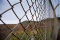 Rusty border fence Stock Photos