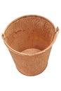 Rusty bucket Clipping path Royalty Free Stock Photo