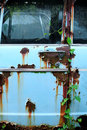 Rusty car door a abandoned vehicle in fukuoka japan a vehicle Stock Images