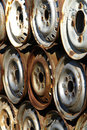 Rusty car rims Royalty Free Stock Image