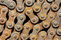 Rusty chain from bicycle old the closeup Stock Image