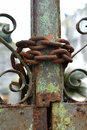 Rusty chain and gate Royalty Free Stock Photo