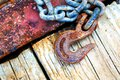 Rusty Chain and Hook Royalty Free Stock Photo