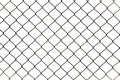 Rusty chain link fencing isolated on white background metal fence diamond pattern Stock Photo