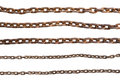 Rusty chains isolated on white background Royalty Free Stock Photo