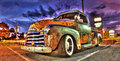 Rusty Chevy pick up truck Royalty Free Stock Photo