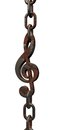 Rusty clef Royalty Free Stock Images