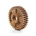 Rusty cog wheel old gear on white background Royalty Free Stock Photos