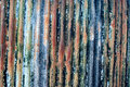 Rusty colours in old corrugated sheet Royalty Free Stock Images