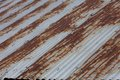 Rusty corrugated iron for background Stock Photos